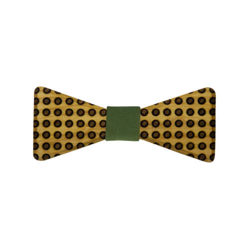 wooden-bowtie-dots-green