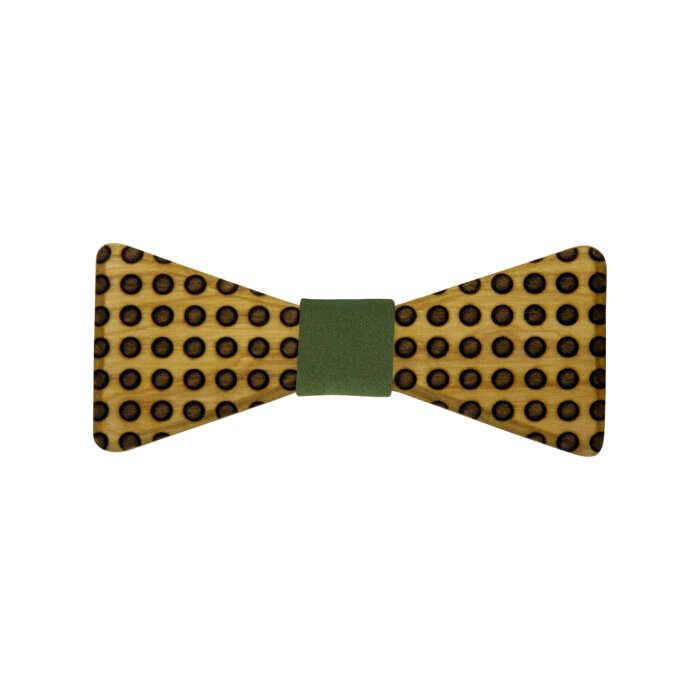 wooden-bowtie-dots-green